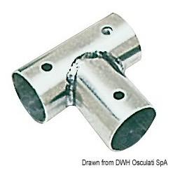 Raccordo inox T 90 gradi 25 mm