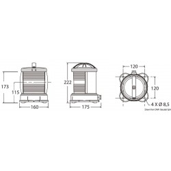 Fanale DHR bianco 135 gradi