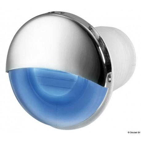 Luce di cortesia LED da incasso tonda blu